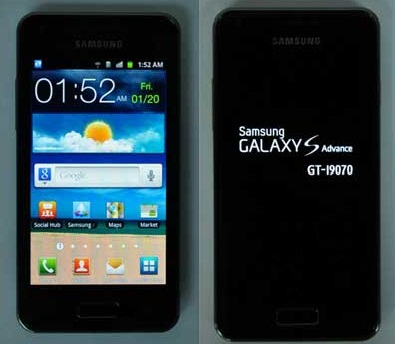 Samsung Galaxy Ace Advance format a..